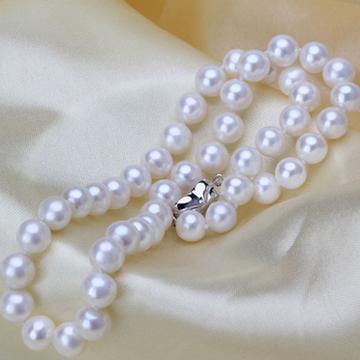 奢美蒂珠宝9-10mm正圆淡水珍珠精品