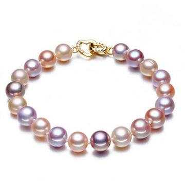 奢美蒂珠宝混彩珍珠手链-天然珍珠