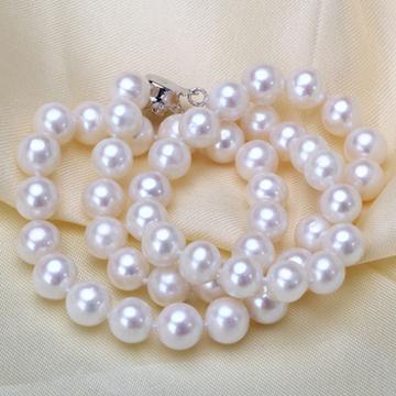 奢美蒂珠宝天然淡水珍珠项链