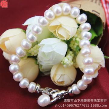 奢美蒂珠宝天然珍珠手链配饰