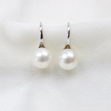 奢美蒂珠宝珍珠耳钩-高跟鞋纯银珍