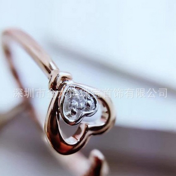 金大恒珠宝18K时尚镶钻石戒指