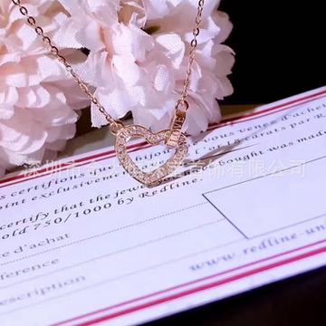 金大恒珠宝18K项链时尚简约镶钻石