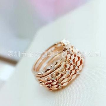 金大恒珠宝18K钻石戒指
