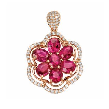 同大福珠宝时尚宝石吊坠