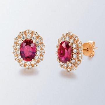 同大福珠宝时尚宝石耳钉