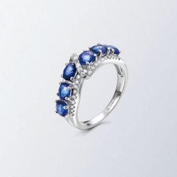 同大福珠宝时尚蓝宝石戒指