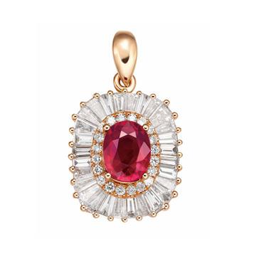 同大福珠宝时尚镶嵌钻石宝石吊坠