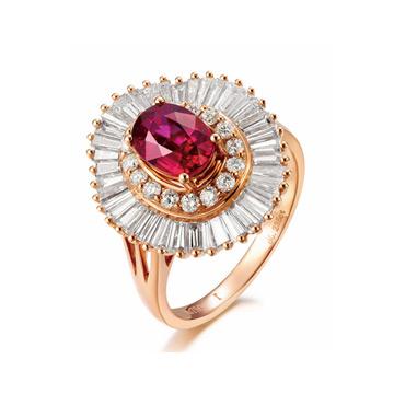 同大福珠宝时尚镶嵌钻石宝石戒指