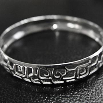 素之银银饰镂空手镯