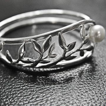 素之银银饰珍珠手镯