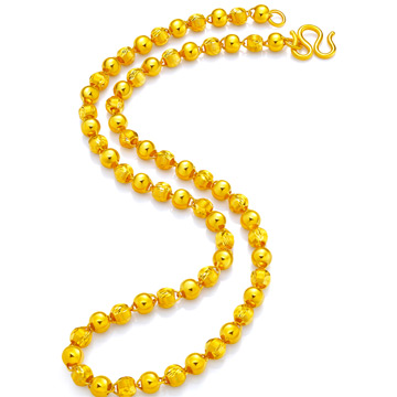 尚金缘珠宝八面来福黄金项链