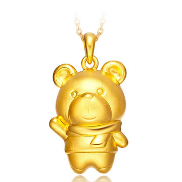 皇子福珠宝小熊吊坠