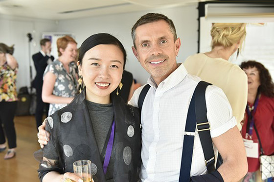 刘蔓与英国著名设计师shaue leane