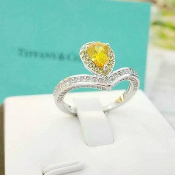 周银匠黄水晶戒指