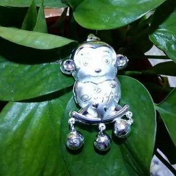 周银匠小猴子银饰锁包