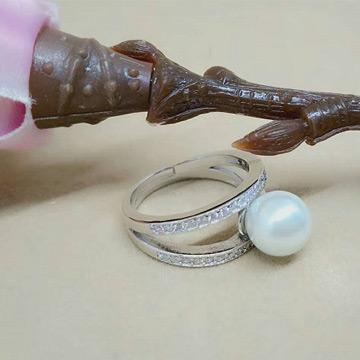 周银匠珍珠银饰戒指
