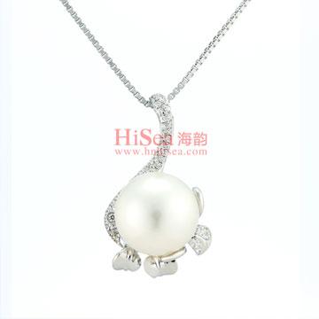 海韵G14K金镶嵌珍珠吊坠