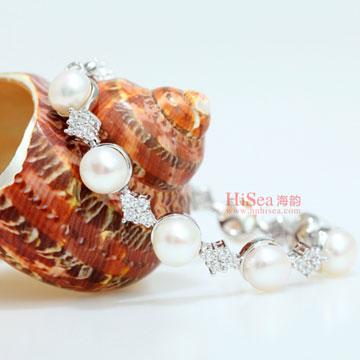 海韵S925银淡水珍珠手链