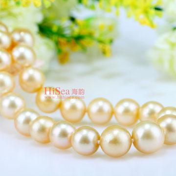 海韵金色珍珠项链