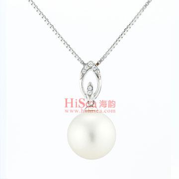 海韵珍珠镶嵌吊坠