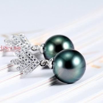海韻珍珠鑲嵌耳環