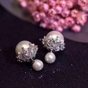 一好首饰S925纯银时尚蕾丝花边珍珠