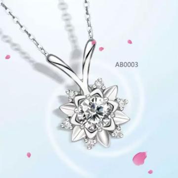 爱心华珠宝奢华钻石项链