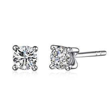 爱心华珠宝时尚钻石耳钉