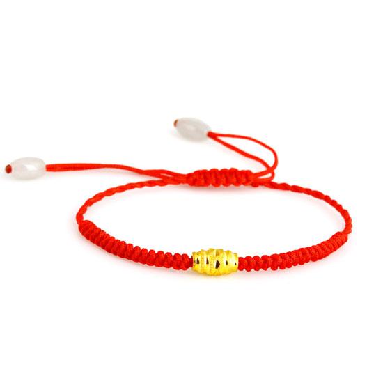 玉珠绳子手链编法图解