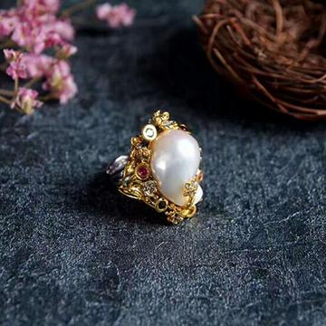 ���z珠��925�y��r尚々珍珠戒指