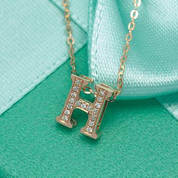 金大恒珠宝字母H吊坠