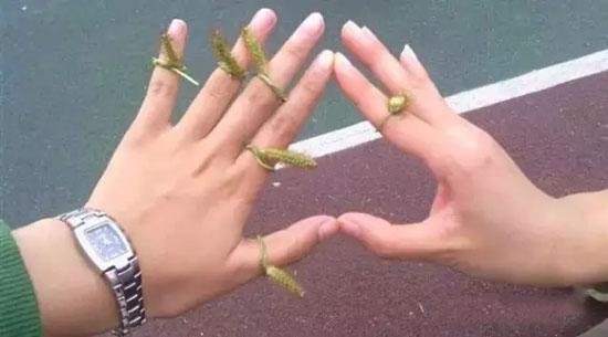 珠宝模特互戴戒指