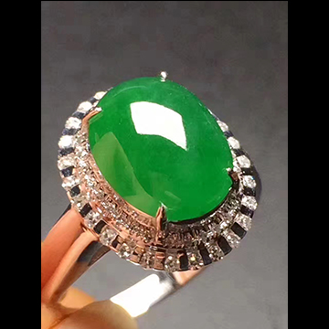 逸之璟满绿翡翠戒指