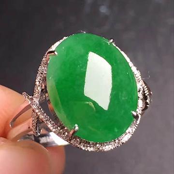 逸之璟阳绿翡翠戒指