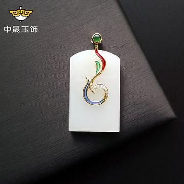 中晟千赢国际客户端下载凤舞九天18k金镶玉珐琅方
