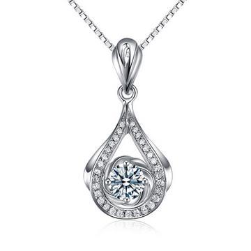 克拉达精致优美钻石吊坠