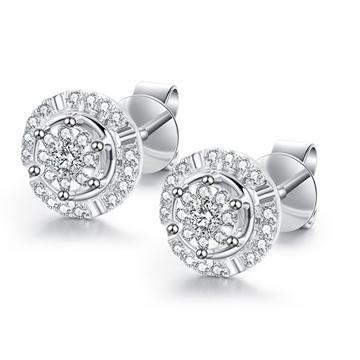 克拉达时尚镶嵌钻石耳钉