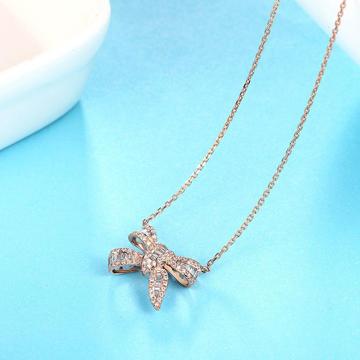 小钻王蝴蝶结钻石项链