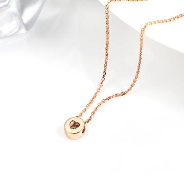 小钻王镂空心形项链