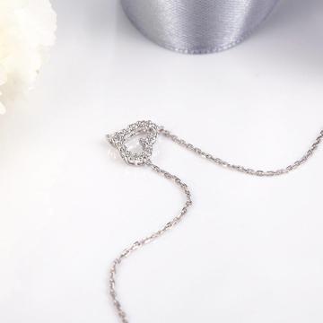 小钻王心形镶嵌钻石项链