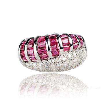 万国彩宝大马士革红宝石戒指