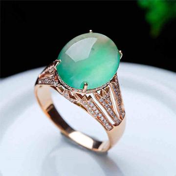 艾翠珠宝精美翡翠戒指