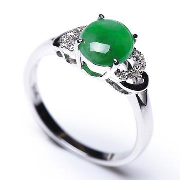 艾翠珠宝精致翡翠戒指