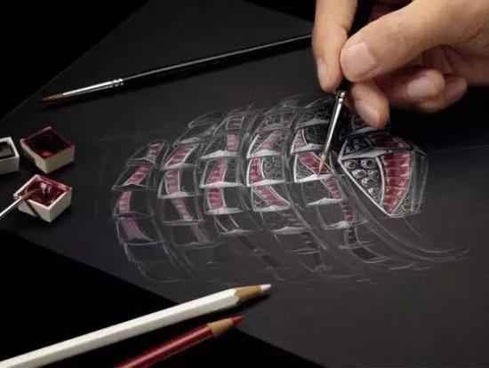 钻石设计稿手绘