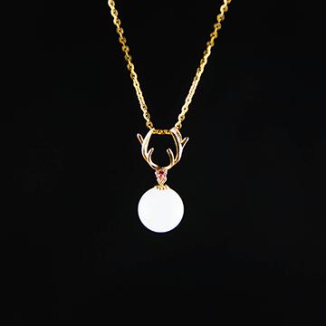 印纪珠宝K金镶嵌吊坠