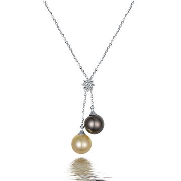 京润珍珠时尚黑珍珠项链