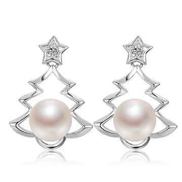 京润珍珠时尚珍珠耳钉
