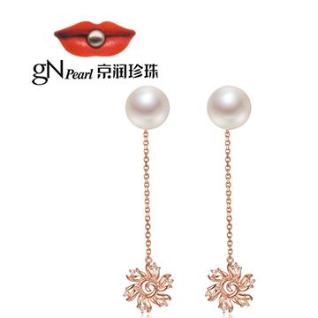 京润珍珠时尚珍珠耳坠