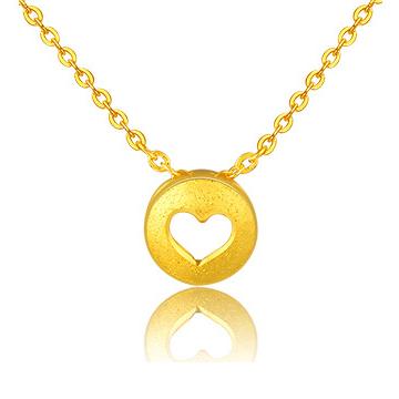 黄金码头心形项链